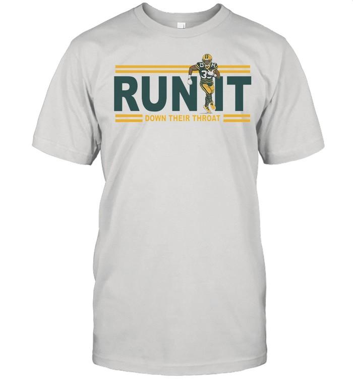 Run it down their throat Aaron Jones Green Bay Packers tshirt