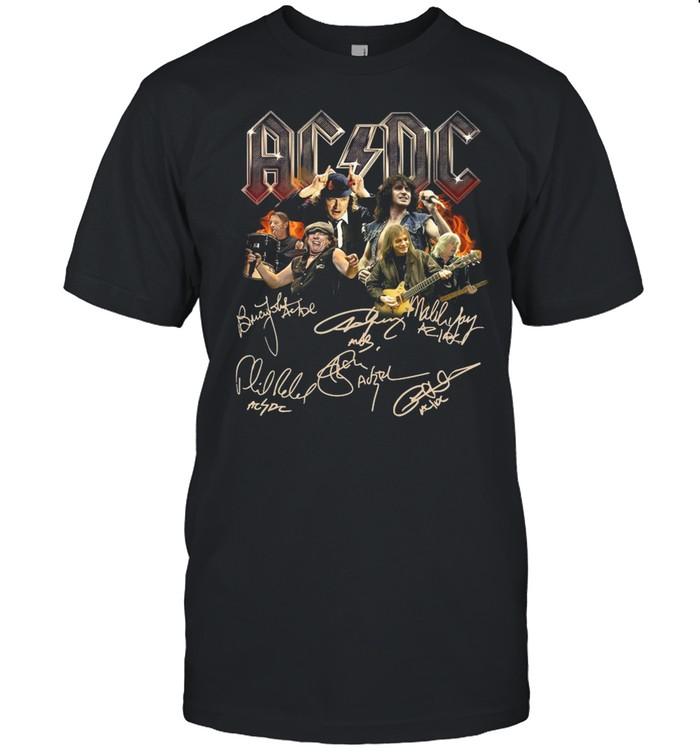Ac Dc Rock Band 2021 Signatures shirt