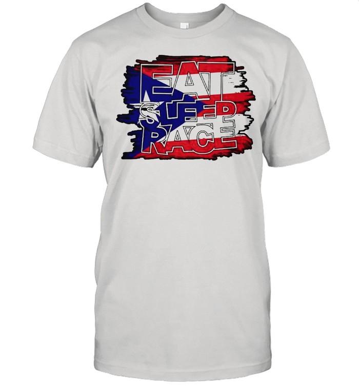 Eat sleep race american shirt