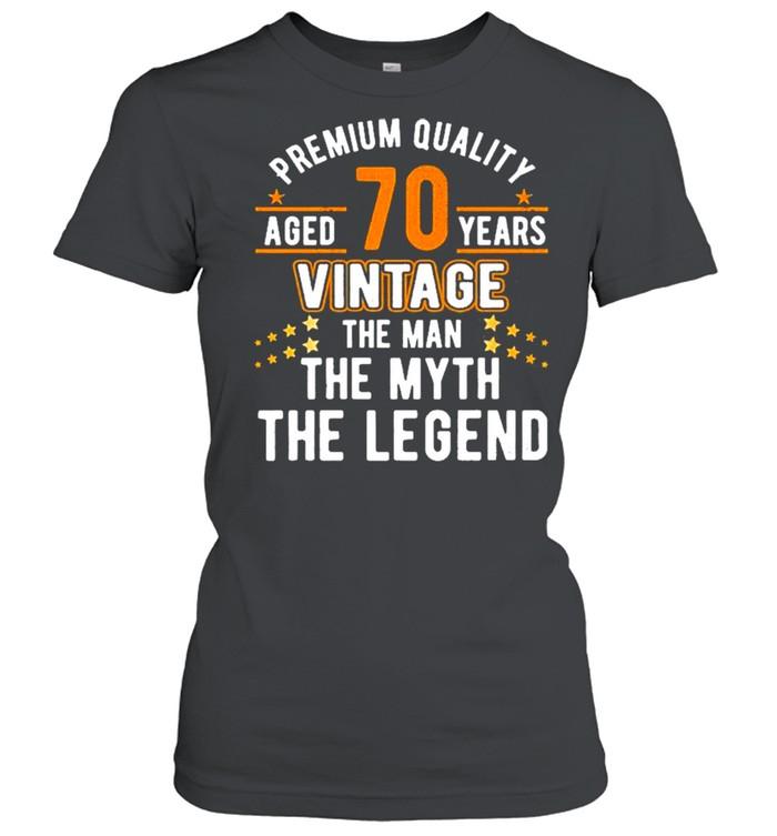 Vintage The Man Myth Legend 70 Yrs 70Th Birthday  Classic Women's T-shirt