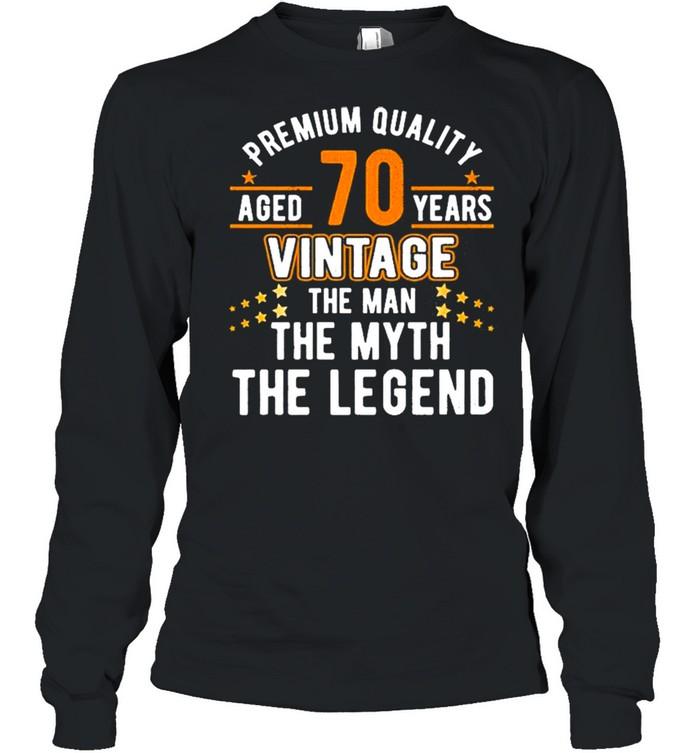 Vintage The Man Myth Legend 70 Yrs 70Th Birthday  Long Sleeved T-shirt