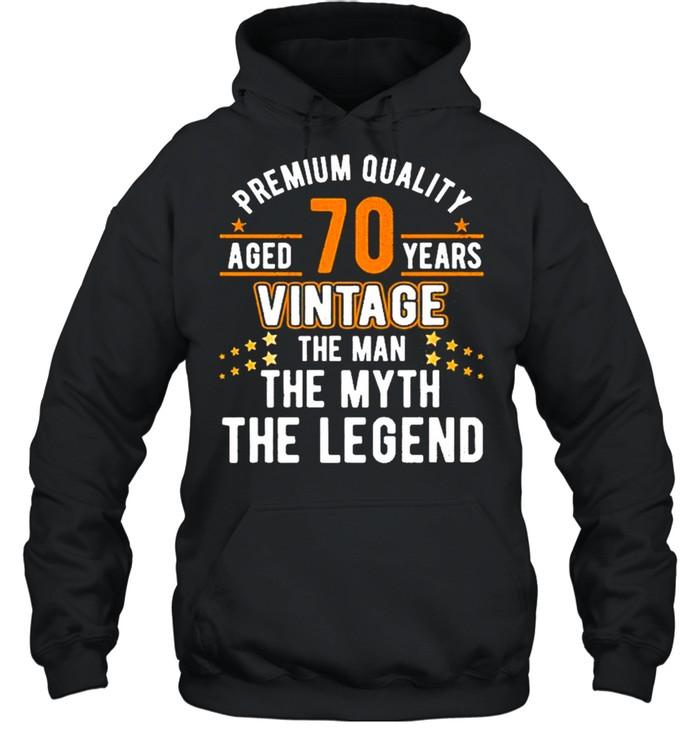 Vintage The Man Myth Legend 70 Yrs 70Th Birthday  Unisex Hoodie