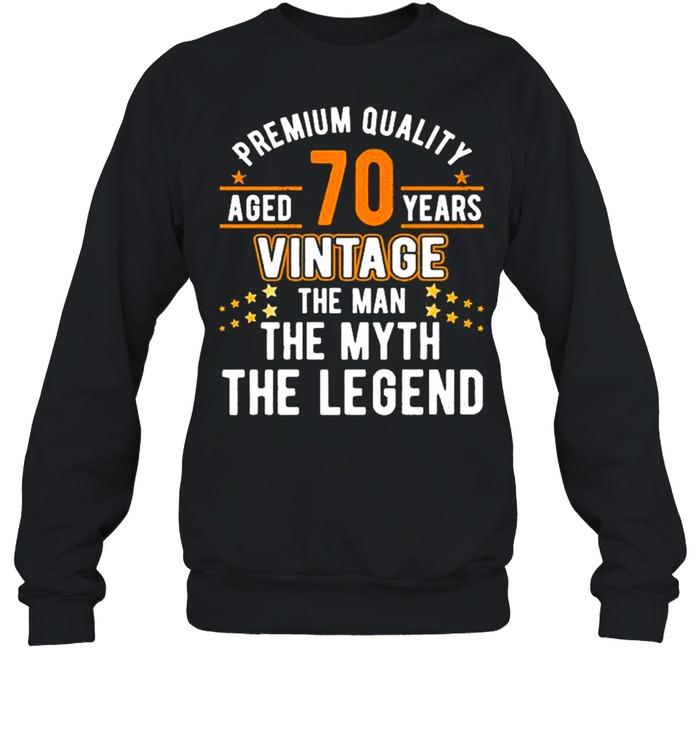 Vintage The Man Myth Legend 70 Yrs 70Th Birthday  Unisex Sweatshirt