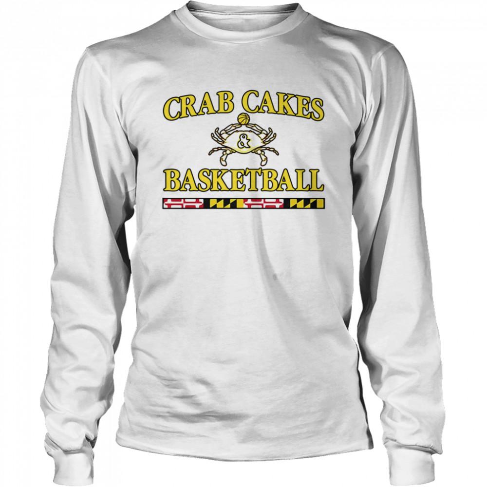 Crab Cakes And Basketball shirt Long Sleeved T-shirt