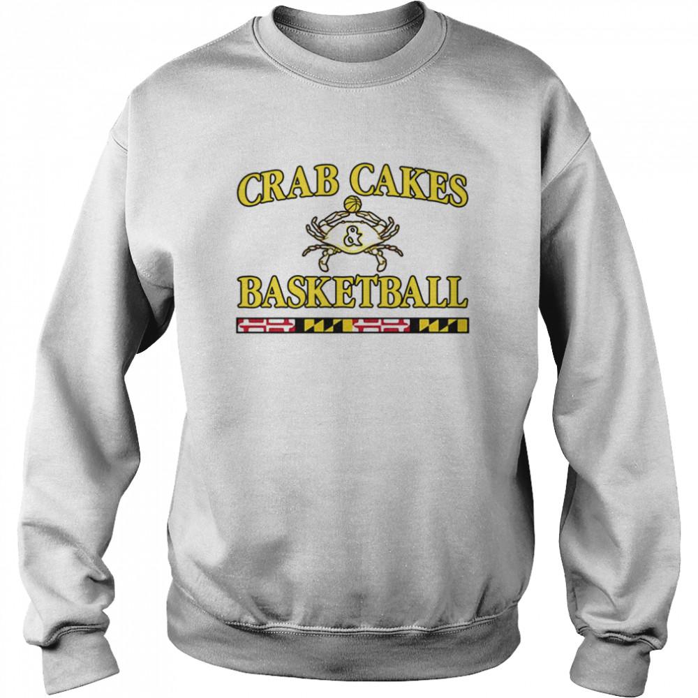 Crab Cakes And Basketball shirt Unisex Sweatshirt