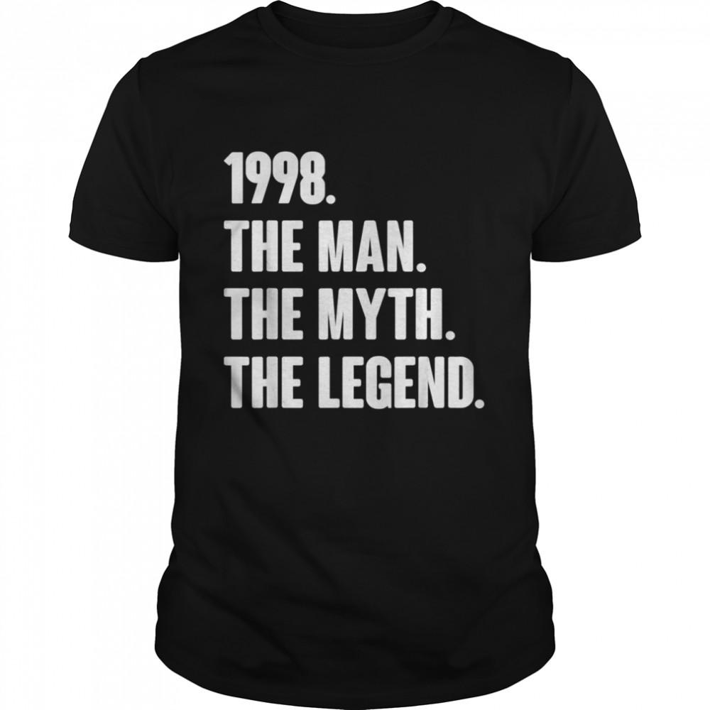 Retro Vintage 23rd 1998 Birthday For 23 Year Old Man shirt