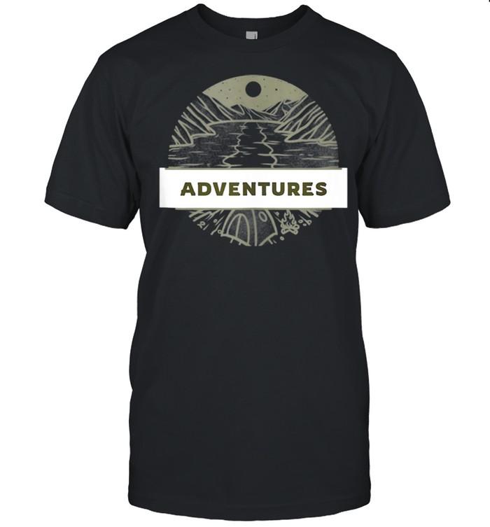 Adventure CAMPING NIGHT Vintage VANLIFE Retro Caravan shirt