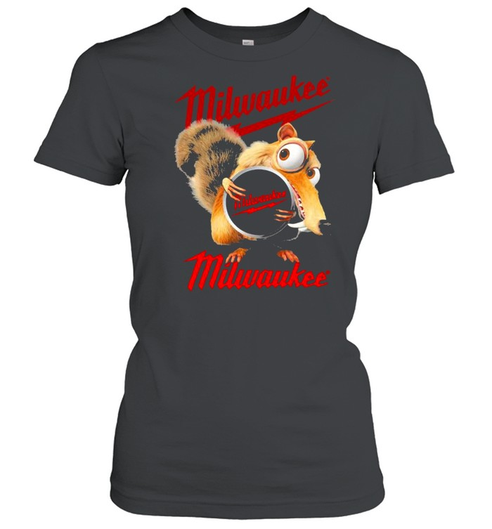 Squirrel W Nuts With Logo Milwaukee  Classic Women's T-shirt
