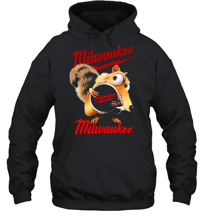 Squirrel W Nuts With Logo Milwaukee  Unisex Hoodie