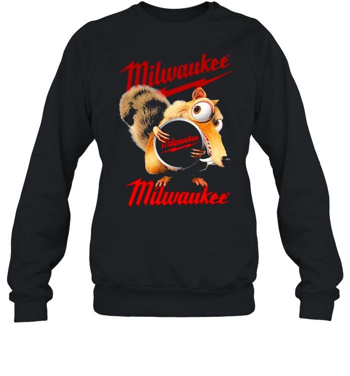 Squirrel W Nuts With Logo Milwaukee  Unisex Sweatshirt
