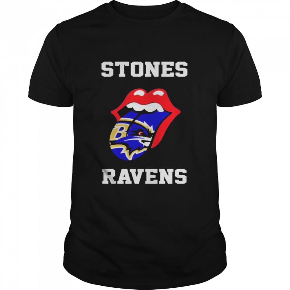 The Rolling Stones Baltimore Ravens lips shirt