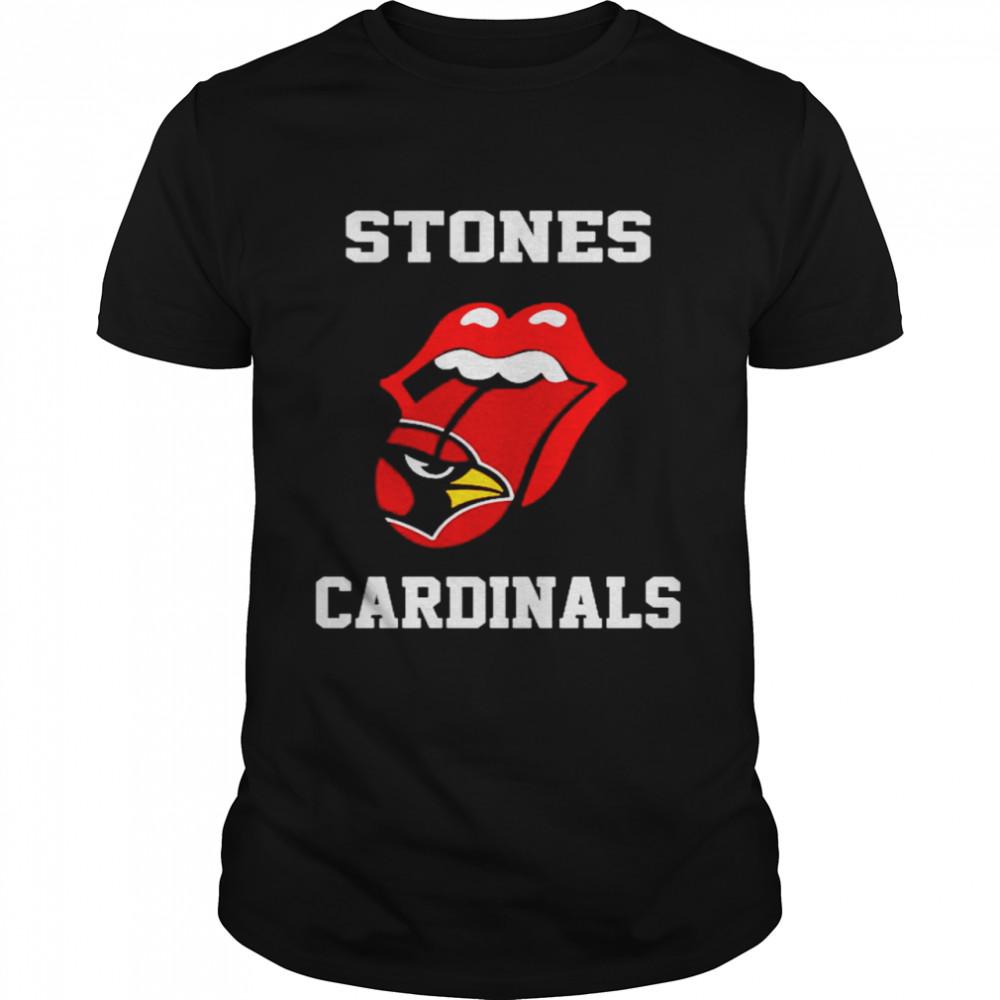 The Rolling Stones St. Louis Cardinals lips shirt