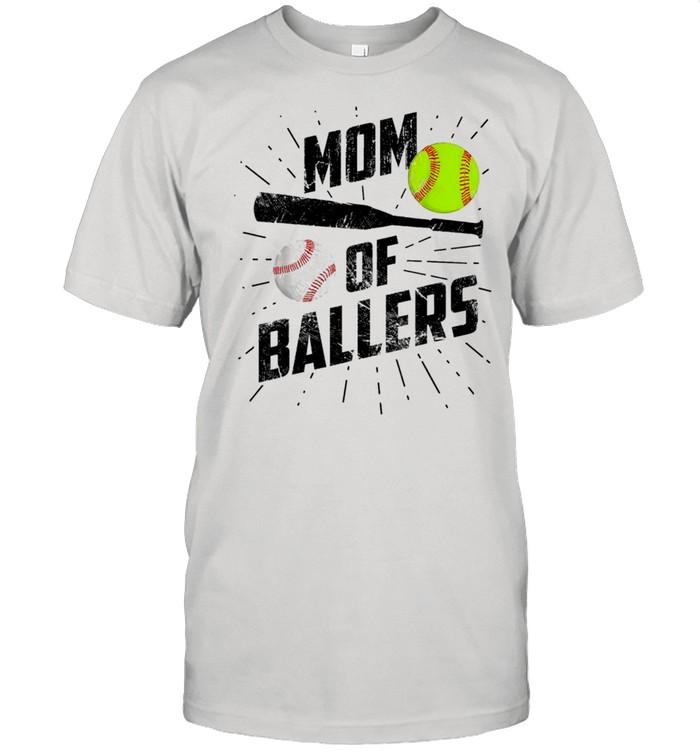 Mom Of Ballers Funny Baseball Softball Game Mothers Day Classic shirt