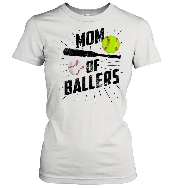 Mom Of Ballers Funny Baseball Softball Game Mothers Day Classic shirt Classic Women's T-shirt