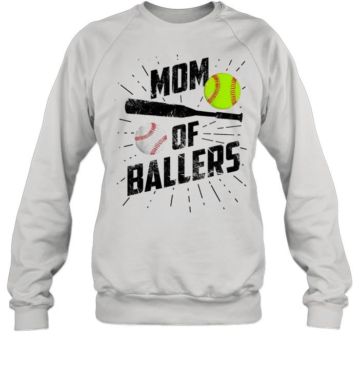 Mom Of Ballers Funny Baseball Softball Game Mothers Day Classic shirt Unisex Sweatshirt