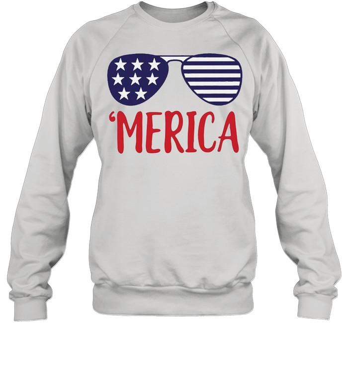 4th of July Merica Glasses Classic shirt Unisex Sweatshirt