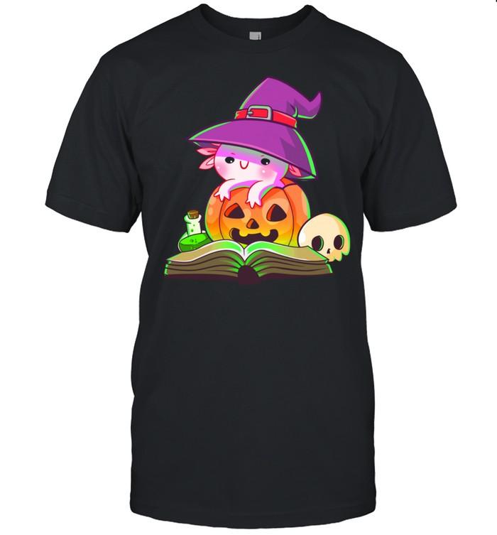Axolotl Halloween Costume Pumpkin Pastel Goth shirt