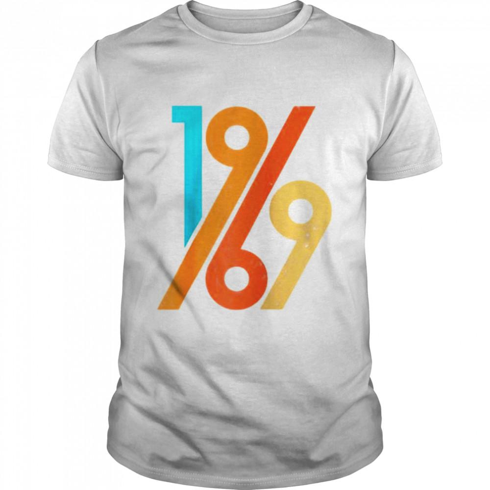 52 Geburtstag Geschenk 60er Jahre Stil Vintage 1969 Raglan Shirt