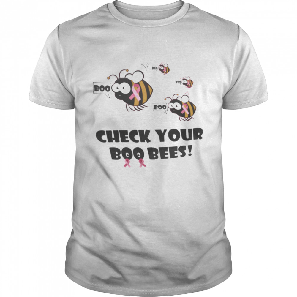 Check Your Boo Bees Breast Cancer Awareness shirt