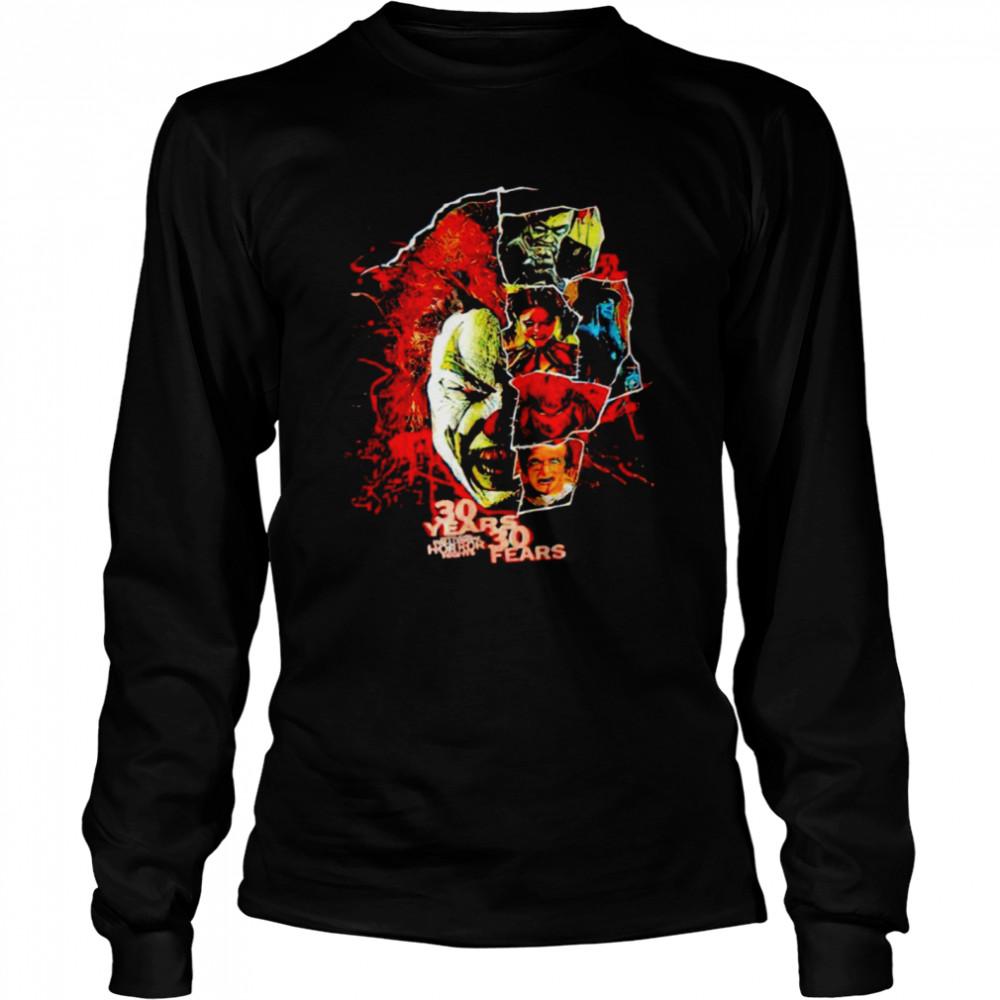 2021 Universal Orlando Halloween Horror Nights 30 years 30 fears shirt Long Sleeved T-shirt