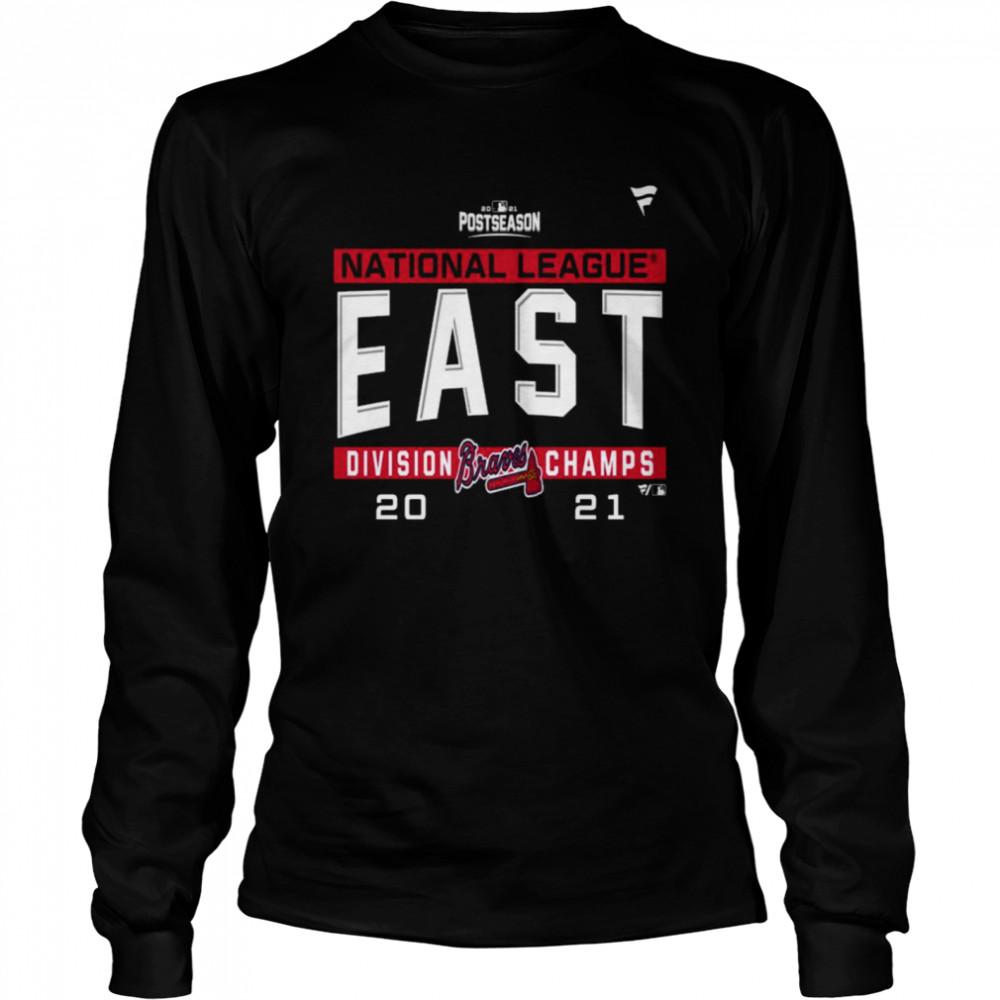 Atlanta Braves National League NL East Division Champions 2021 sport shirt Long Sleeved T-shirt