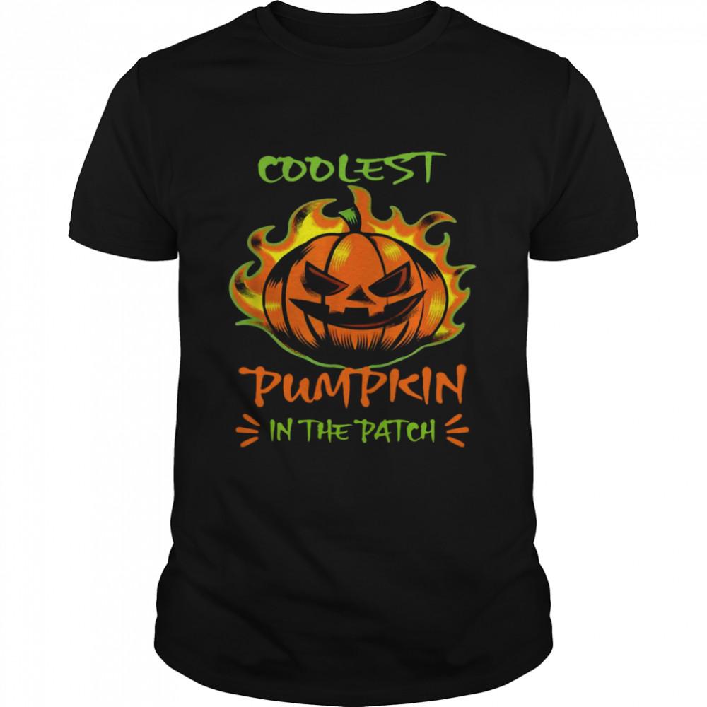 Coolest Pumpkin In The Patch Scary Halloween Pumpkin Shirt